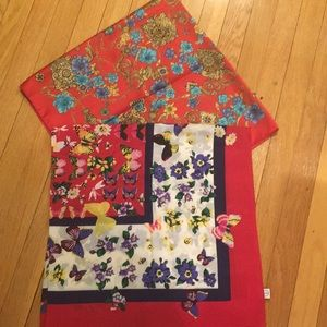 Bundle of two silk scarves